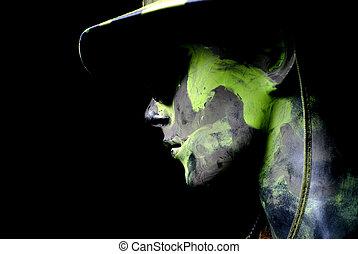 Dark soldier portrait
