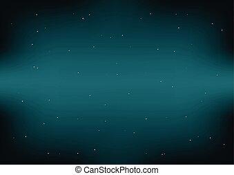 Dark Space Green Blue Background