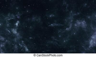 Dark Space Nebula and Bright Stars - Stars and space nebulae...