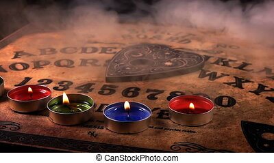Dark Spiritual Game Ouija Board
