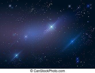 Dark starry sky space background