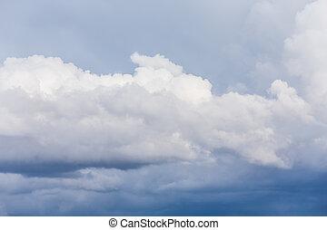 dark storm clouds before rain