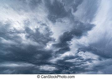 Dark storm clouds.