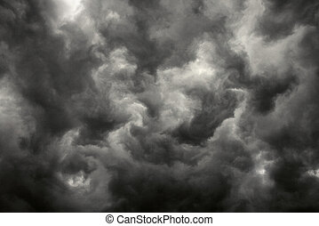 Dark storm clouds. - Ominous abstract storm clouds.