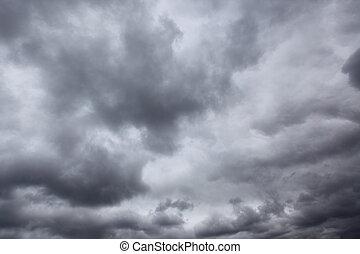 Dark storm sky