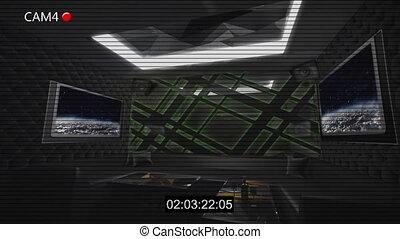 dark style club room cctv recording 4k - CCTV Security...