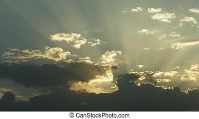 Dark Sunset Clouds with Birds