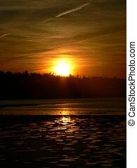 Dark Sunset - October sunset in Eastern Passage Nova Scotia