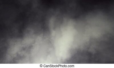 Dark swirling smoky clouds loop - Stylized yet realistic and...