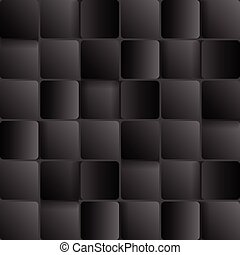 Dark tech abstract background with squares