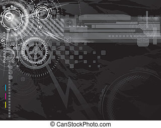 Dark Technology background - Abstract technology background...