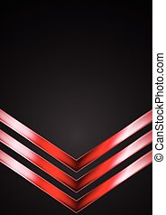 Dark technology background with red arrows