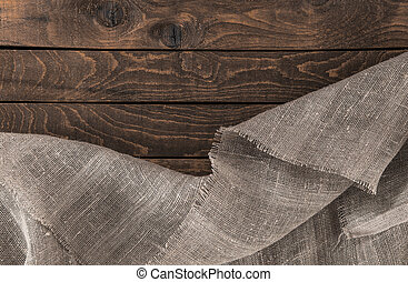 dark textile and wood