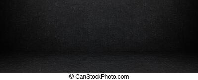 dark texture chalk board room and studio wall background