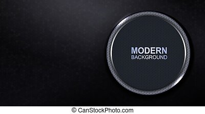 Dark textured background with a round frame with a light border and glitter
