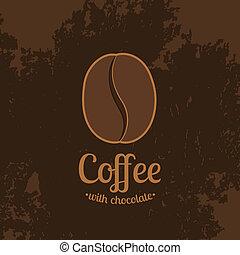 Dark Textured Background with Coffee Bean