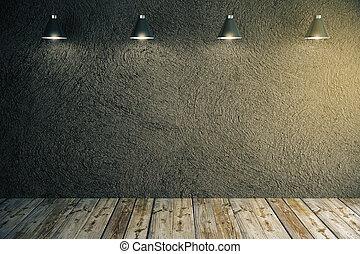 Dark textured concrete wall