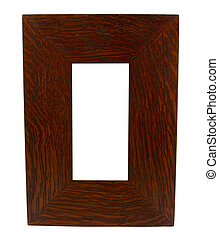 dark thick wood picture frame - a thick dark stained oak ...