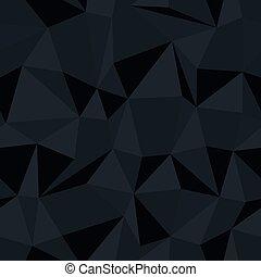Dark triangle seamless monochrome pattern