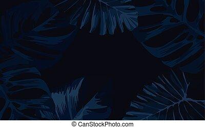 Dark Tropical Frame Background