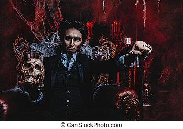 dark vampire man