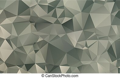 Dark vector blurry triangle background design. Geometric ...