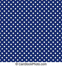 Seamless vector dark pattern with white polka dots on a sailor navy blue background. For cards, invitations, wedding or baby shower albums, backgrounds, arts and scrapbooks.