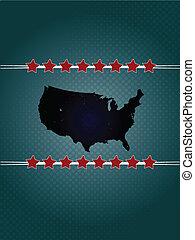 Dark vintage style USA background