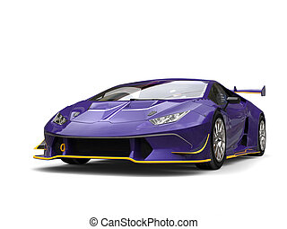 Dark violet fast race car