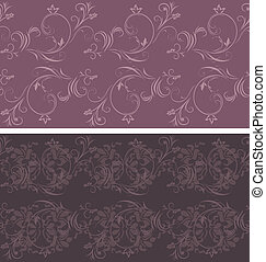Dark violet ornamental backgrounds