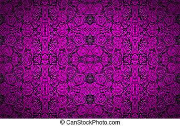 dark violet with droplets violet natural roses background