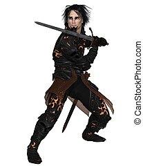 Dark Warrior with Sword - 2
