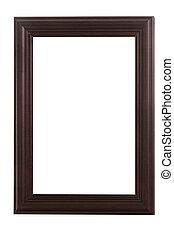 Dark wide border wooden frame