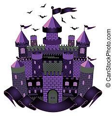 Dark Witch castle, vector