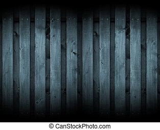 Dark Wood Background with Spotlights