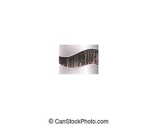 wooden background in metal frame