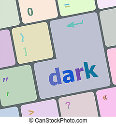 dark word on computer keyboard key