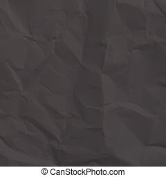Dark wrinkled paper with many different curves - illustration