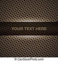 Dark yellow metal background