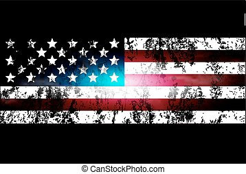darkened background of the USA flag
