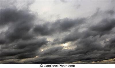 Darkening clouds overcast sky
