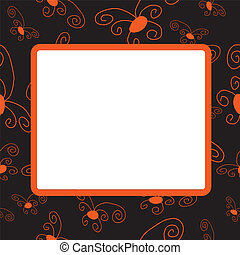 Darkenning frame with orange elemen
