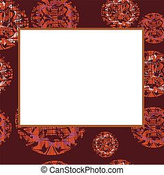 Darkenning vector frame with abstra