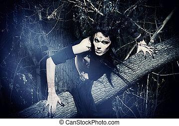 darkman - Man-tree in a wild wood. Art project. Fantasy....