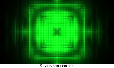 Darkness and green tunnel looping animation - Animated...