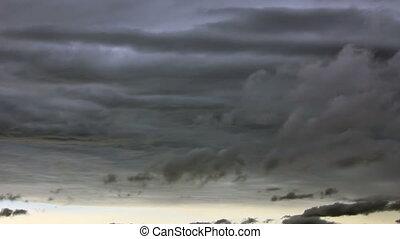 Darkness sky clouds