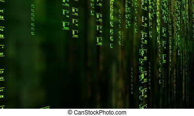 Darknet Deepweb Deep Web matrix style concept