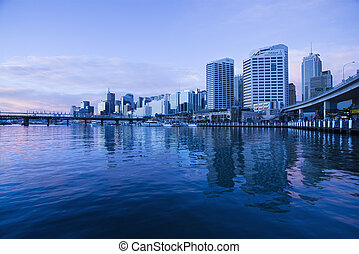 Darling Harbour, Australia. - Darling Harbour and...