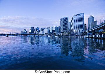 Darling Harbour, Australia. - Darling Harbour and...