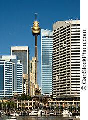 Darling Harbour Scene, Sydney, Australia - City buildings ...